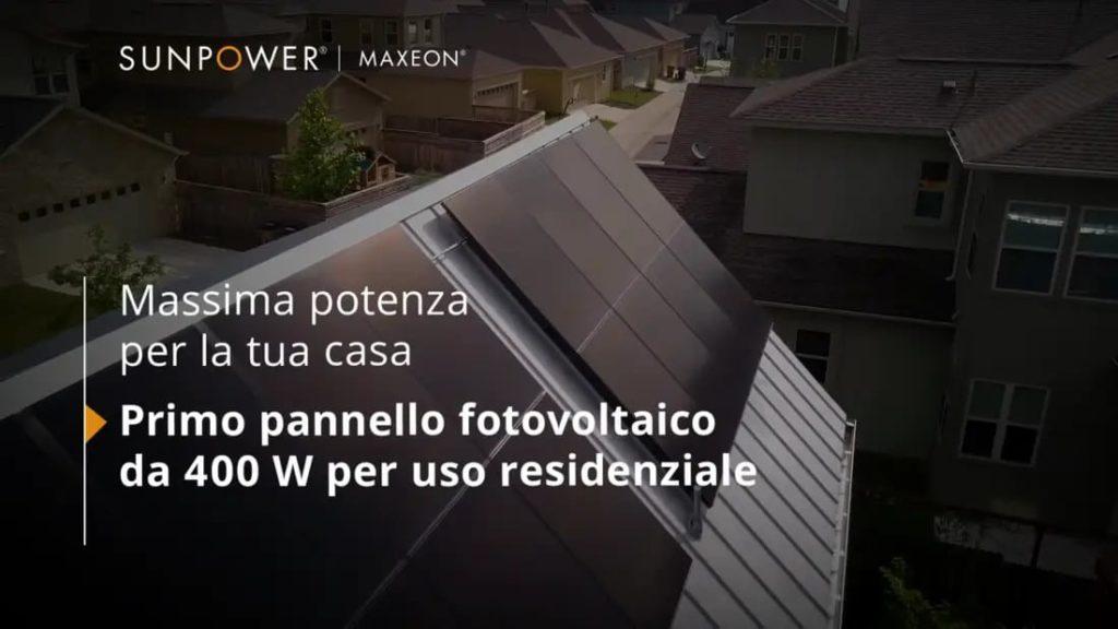 SunPower Maxeon 3 potenza 400 watt