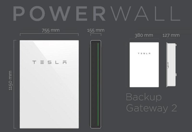Accumulatore Tesla Powerwall dimensioni