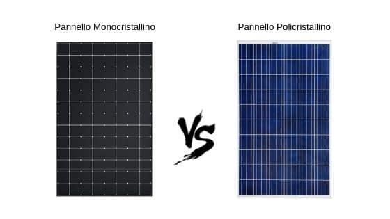 Pannelli solari fotovoltaici monocristallino e policristallino