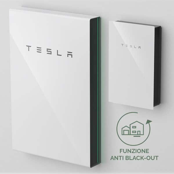 Tesla Powerwall batteria con funzinoe anti black-out